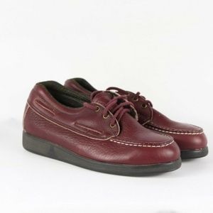 Vintage Double H Steel Toe Leather Moc Shoes 7 W